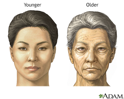 Young old facial